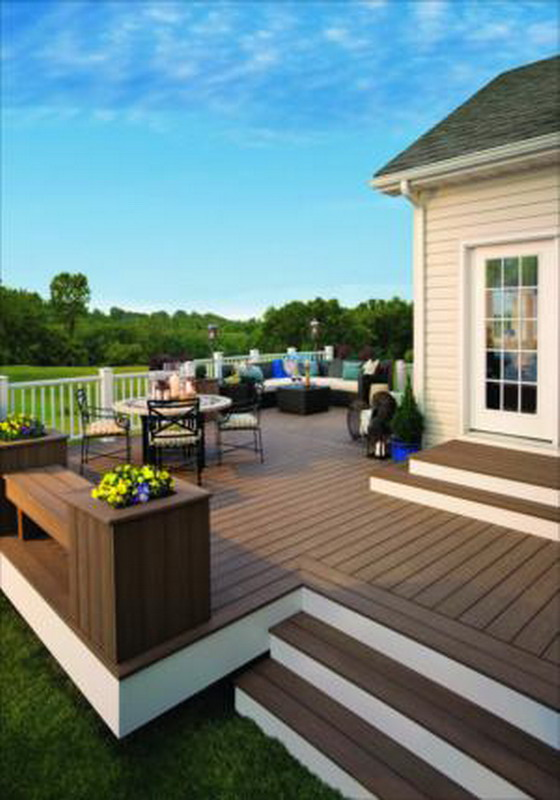 Wood Flooring outside Decking will look