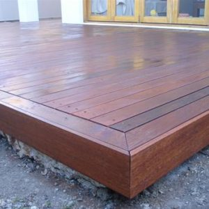 Merbau Decking Application